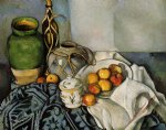 still life with apples by paul cezanne painting