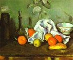 still life with fruit by paul cezanne painting