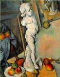 still life with plaster cupid by paul cezanne painting