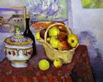 still life with soup tureen by paul cezanne painting