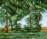 tall trees at the jas de bouffanii by paul cezanne painting