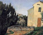 the abandoned house by paul cezanne painting