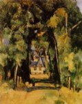 the alley at chantilly ii by paul cezanne painting