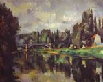 the banks of the marne by paul cezanne painting
