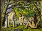 the bathers by paul cezanne painting