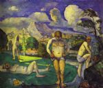 the bathers resting by paul cezanne painting