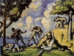 the battle of love i by paul cezanne painting