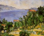 the bay of l estaque from the east by paul cezanne painting