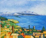 the bay of marseilles by paul cezanne painting