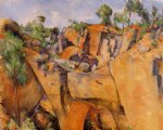 the bibemus quarry iii by paul cezanne painting
