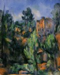 the bibemus quarry by paul cezanne painting