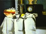 the black clock by paul cezanne painting