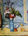 the blue vase ii by paul cezanne painting