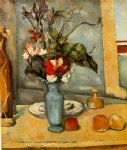 paul cezanne the blue vase painting