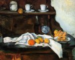 the buffet by paul cezanne painting