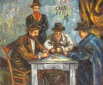 the card players ii by paul cezanne painting