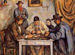 the card players by paul cezanne painting