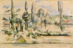 the chateau de medan by paul cezanne painting