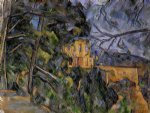 the chateau noir by paul cezanne painting
