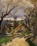 the cottages of auvers by paul cezanne painting