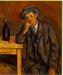 the drinker by paul cezanne painting