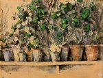 the flower pots by paul cezanne painting