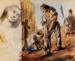 the gravediggers by paul cezanne painting