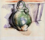the green pitcher by paul cezanne painting