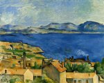the gulf of marseille seen from l estaque by paul cezanne painting