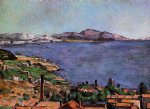 the gulf of marseilles seen from l estaque by paul cezanne painting