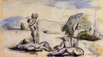the harvesters by paul cezanne painting
