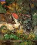 the house of pere lacroix in auvers by paul cezanne paintings-28013