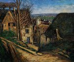 the house of the hanged man at auvers by paul cezanne painting