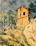 the house with cracked walls by paul cezanne painting