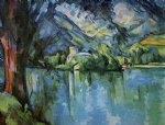 the lac d annecy by paul cezanne painting
