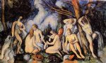 the large bathers ii by paul cezanne painting