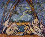 the large bathers by paul cezanne painting