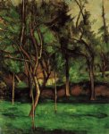 the orchard by paul cezanne painting