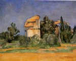 the pigeon tower at bellevue by paul cezanne painting