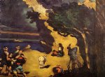 the robbers and the donkey by paul cezanne painting