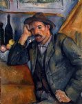 the smoker by paul cezanne painting