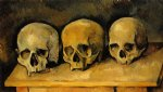 the three skulls by paul cezanne paintings-28049