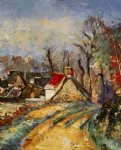 the turn in the road at auvers by paul cezanne painting