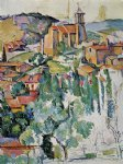 the village of gardanne by paul cezanne painting