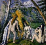 three bathers by paul cezanne painting