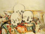 three skulls by paul cezanne painting