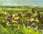 view of auvers by paul cezanne painting