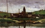 view of bonnieres by paul cezanne painting