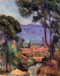 view through the trees by paul cezanne painting