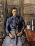 woman with a coffeepot by paul cezanne painting